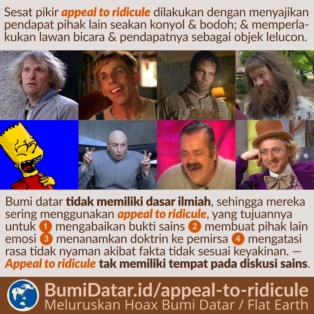 Appeal To Ridicule Jurus Mencemooh Dalam Konsep Bumi Datar